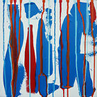 Original Art Abstract Acrylic Painting Canvas Artwork Palette Knife Warren Green