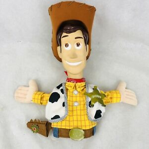 "Toy Story Woody 11"" Hand Puppet Disney Store Pixar Teaching Plastic Face Rare"