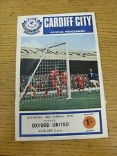28/03/1970 Cardiff City v Oxford United  (Nicks). Unless stated previously in th