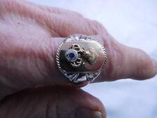 Vintage 10kt YG  Elk Clock Men's Ring  Fraternity sze 13.5 I-4162