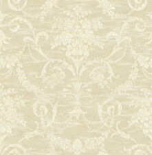 Wallpaper,System Solution,Rohseide,Gleam,Blumenmuster,Ornaments,Sea,Honeygold