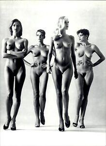 1982 Helmut Newton 4 Nude Female Models High Heels Beautiful Art Photo Gravure