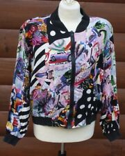 Vtg 80s 90s Ride L Full Zip Pop Art Santa Ana California Bomber Jacket