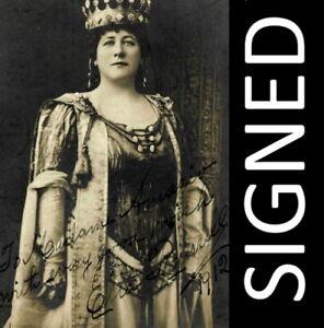 1912 SIGNED postcard opera singer Ella Russell Elizabeth in Wagner's Tannhauser