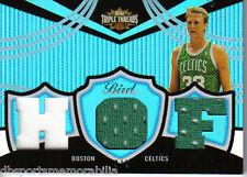 2006 Topps Triple Threads Larry Bird HOF Serial #d 3/3 Sapphire Boston Celtics