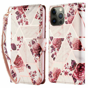 For iPhone 12 Pro Max 11 XR 67 8 Women Fashion Flowers Leather Wallet Case Cover