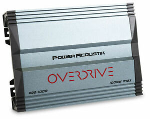 Power Acoustik OD2-1000 1000W Overdrive Series 2-Channel Amp Car Audio Amplifier