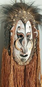 Old Papua New Guinea Eastern Highlands Dance Mask …beautiful collection & displa