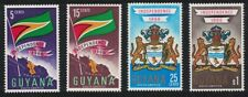 Guyana Leopard Arms Independence 4v MNH SG#408-411