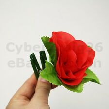 APPEARING RED ROSE MAGIC TRICK FOLDING RED FLOWER APPEAR NEW FOLD UP SMALL PROP