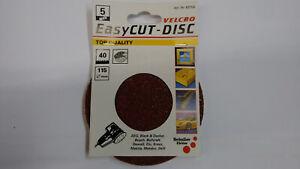 Schleifscheiben 115mm 8 Loch Korn 40 5er Pack Exzenterschleifer  Easycut Disc