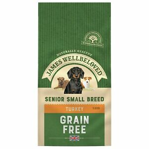 James Wellbeloved Complete Dry Senior Small Breed Dog Food Complete Dry Turke...