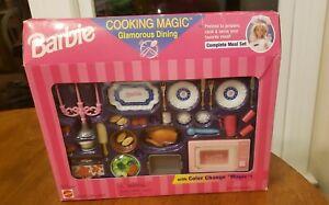 Rare 1997 Mattel Barbie cooking magic Glamorous Dining Food Processor Meal Set