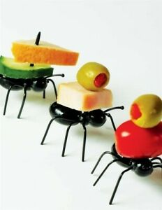 20 Victorian Trading Black Ant Appetizer Food Picks Free Ship NIB