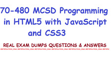 70-480 MCSD Programming in HTML5 with JavaScript and CSS3 exam dumps