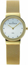 Women's Gold Skagen Freja Mesh Crystallized Watch 358SGGD