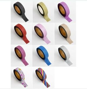 Glitter Adhesive Washi Premium Tape by Italian Option 15mm x 10metres ONLY £2.99