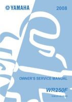 Yamaha WR250 F 2008 Owners Service Manual NEW PAPERBACK