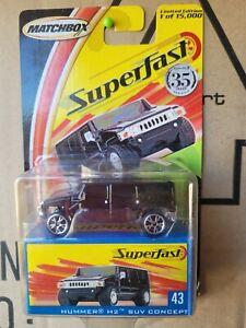 MATCHBOX 2008 SUPERFAST - HUMMER H3 [BLACK] NEAR MINT VHTF CARD GOOD