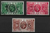 SG453Wi-455Wi.  1935 Silver Jubilee Wmk.Inv.Set-VFU. Excellent Perfs. Ref.07180