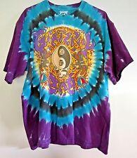 Vintage 90s GRATEFUL DEAD Tie Dye OAKLAND Mens 1991 T-Shirt Liquid Blue Chinese