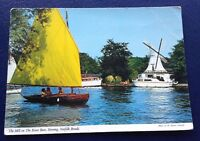 POSTCARD: THE MILL ON THE RIVER BURE: HORNING: NORFOLK BROADS: UN POSTED
