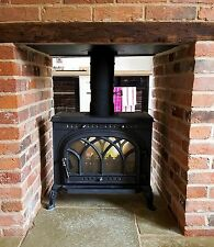 Victorianna 10kw Double Sided Multi Fuel Wood Burning Cast Iron Stove Stoves Log