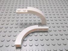 Lego 2 Halb Bögen 1x6x3 weiß 6060 Set 10220 6290 5985 4993