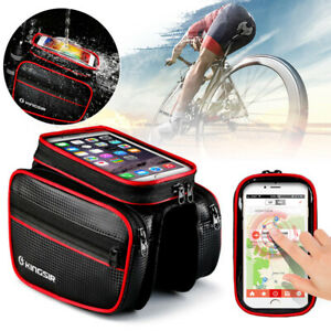 Cycling Bicycle Bike Front Frame Tube Bag Accessories Mobile Phone Pouch Holder