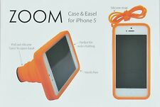 iPHONE 5 / 5s ZOOM PROTECTIVE CASE AND STAND W/ NECK STRAP ORANGE COLOR