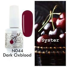 SYSTER 15ml Nail Art Soak Off Color UV Lamp Gel Polish N044 - Dark Oxblood