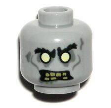 LEGO Monster ZOMBIE HEAD Light Bluish Gray Minifigure Halloween Scary Face 10228
