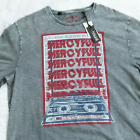 Buffalo David Bitton Mens T-Shirt Gray Size XL Graphic Tee Vintage Cassette New