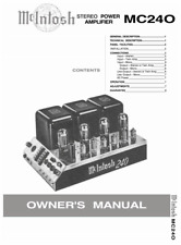 McIntosh MC240 Stereo Power Amplifier Owners User Operating Instruction Manual