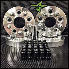 5X100 TO 5X114.3 CONVERSION KIT FR-S BRZ WRX 25MM +20 BLACK SPLINE RACE LUG NUTS