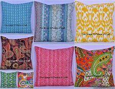 Indian Handmade Cotton Kantha Cushion Cover Decorative Pillow Case Home Decor