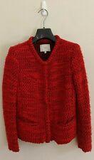 IRO 'Refilia' Tonal-Red Wool-Mohair Blend Bouclé Jacket - Womens Size 36 FR