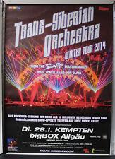 Trans-Siberian Orchestra Tour 2014 RARE Konzert Plakat Concert Poster 84cm