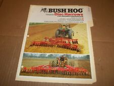PY102) Bush Hog Sales Brochure 4 Pages - Tandem Disc Harrows