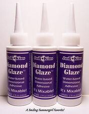3 New 2oz JudiKins Diamond Glaze Clear Glass like finish  Paper Crafts & Jewelry
