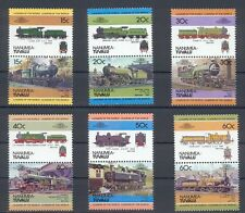 Nanumea - Tuvalu Satz 1 Train / Eisenbahn / Loco 100 Leaders of the World **