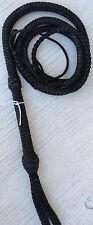 6 foot 12 Plait Nylon Bull Whip Black Cat Nylon Bullwhip Whips #W62