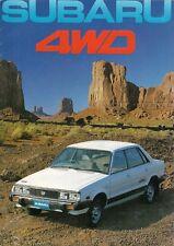 Subaru 1600 & 1800 4WD 1981-82 UK Market Sales Brochure Saloon Hatchback Estate