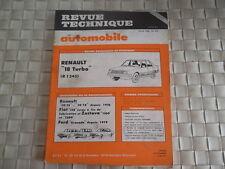 REVUE TECHNIQUE RENAULT 18 TURBO (R1345)