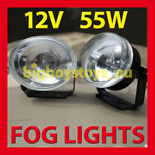 FOG LIGHTS UNIVERSAL FITTING LIGHT OVAL 12V 55W ** CLEAR LENS **DAYTIME RUNNING