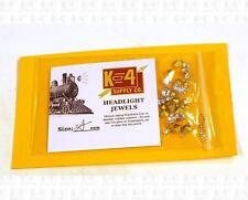 K4 HO Parts: Asst Sizes Headlight Marker Lamp Crystal Clear Jewel Lenses