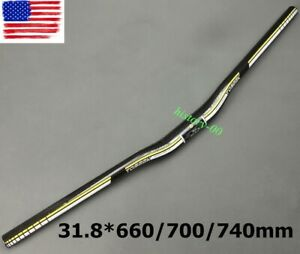 31.8*660/700/740mm Full Carbon Handlebar MTB Mountain Road Bike Racing Riser bar