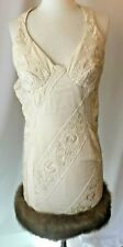 ONE OF A KIND SIZE 2 QUILTED CREAM AND MINK HEM STUNNING