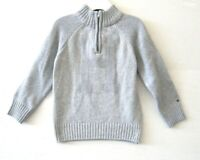 Tommy Hilfiger Toddler Boys NWT $50 Sweater Grey Size 3T Long Sleeve Zip KD888