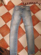 Jeans Röhre Damen hellblau stonewashed mit Rissen Bianca MANGO Größe 36